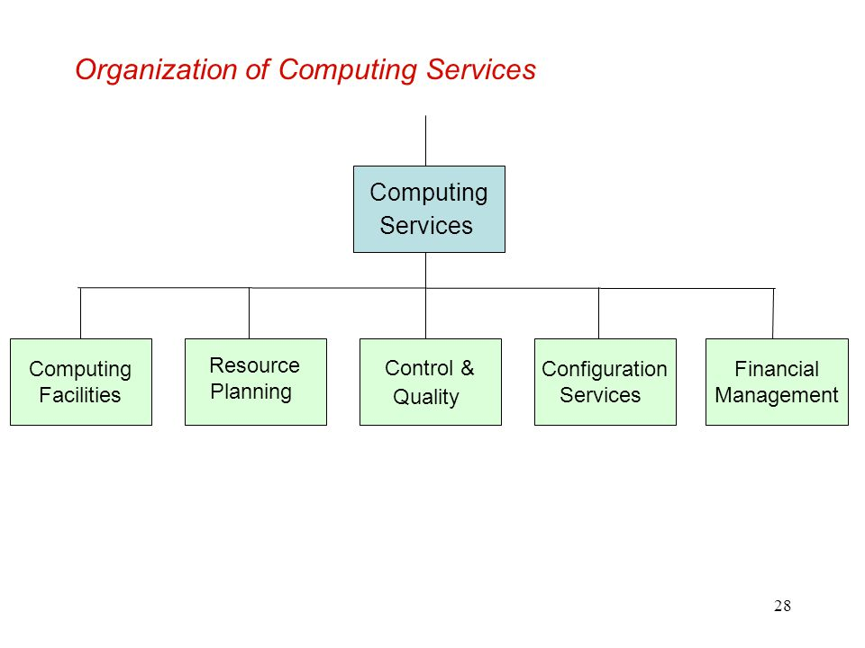Organization of Computing Services