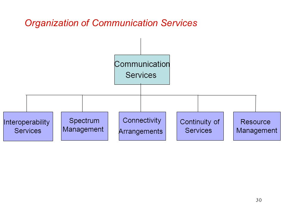 Organization of Communication Services