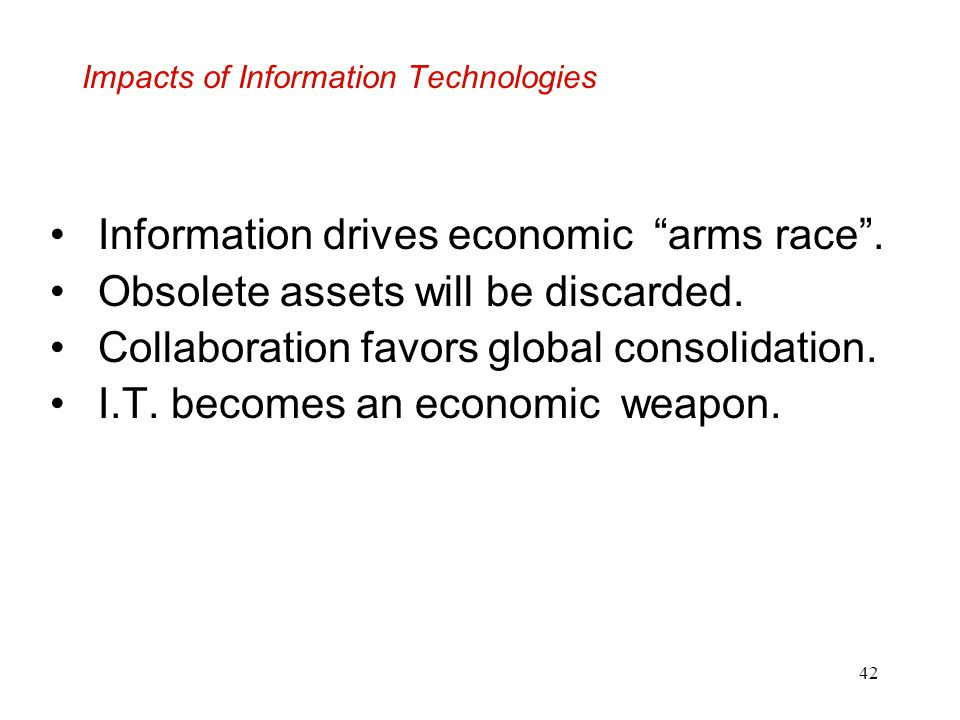 Impacts of Information Technologies