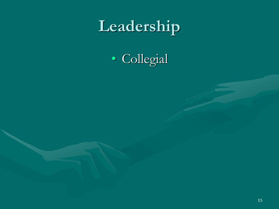 Leadership Collegial