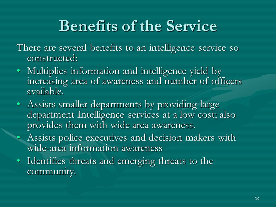 Benefits of the Service