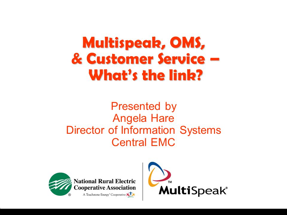Multispeak, OMS, & Customer Service – What's the link