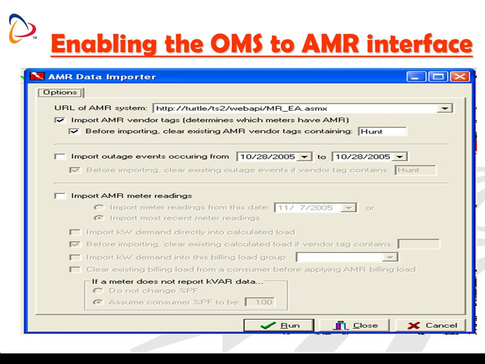 Enabling the OMS to AMR interface