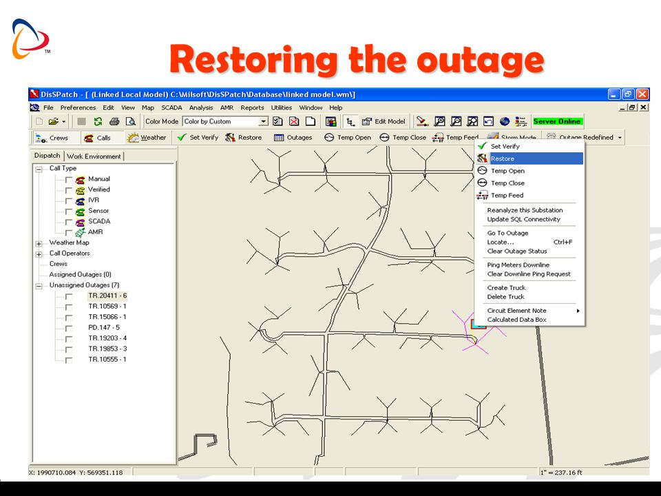 Restoring the outage