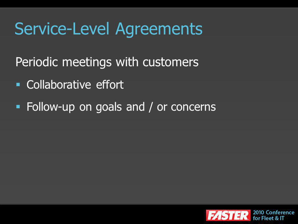 Service-Level Agreements