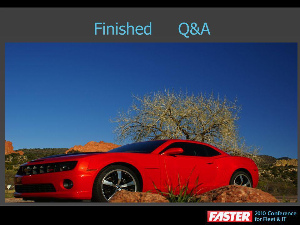 Finished Q&A