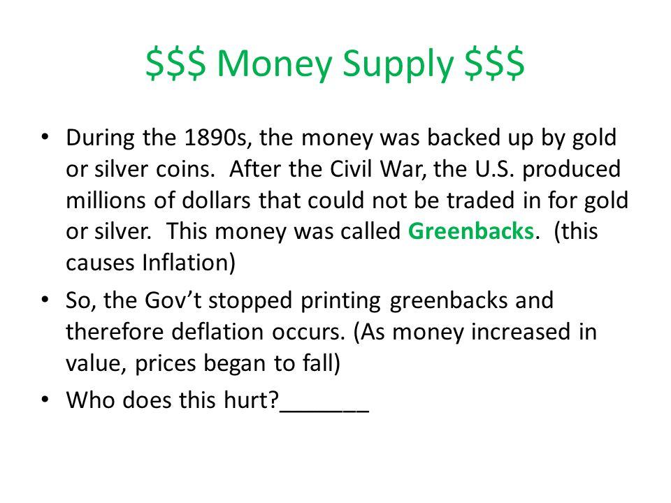 $$$ Money Supply $$$