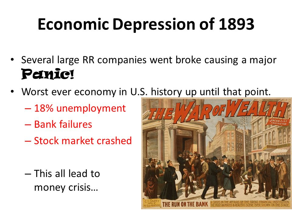 Economic Depression of 1893