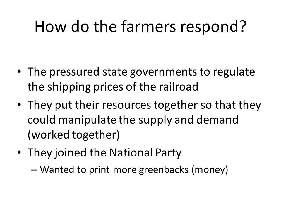 How do the farmers respond