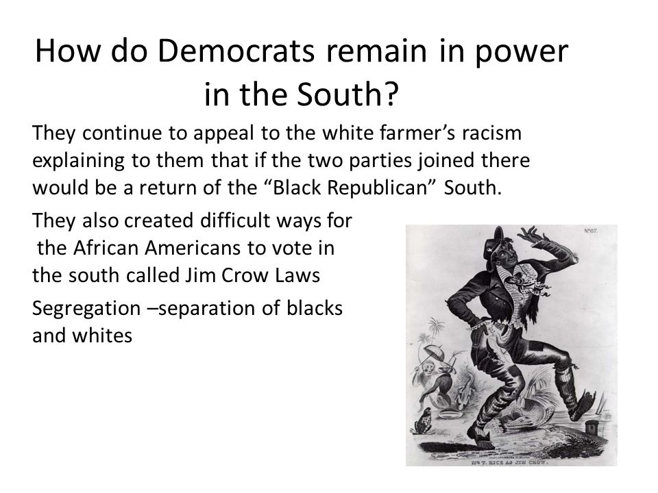How do Democrats remain in power in the South