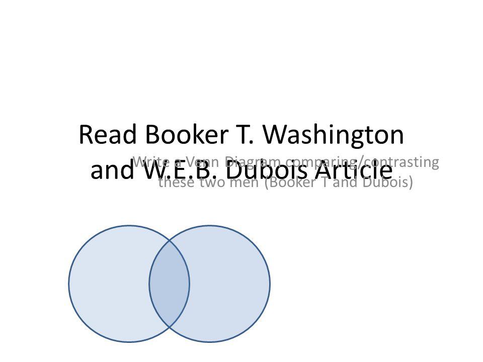 Read Booker T. Washington and W.E.B. Dubois Article