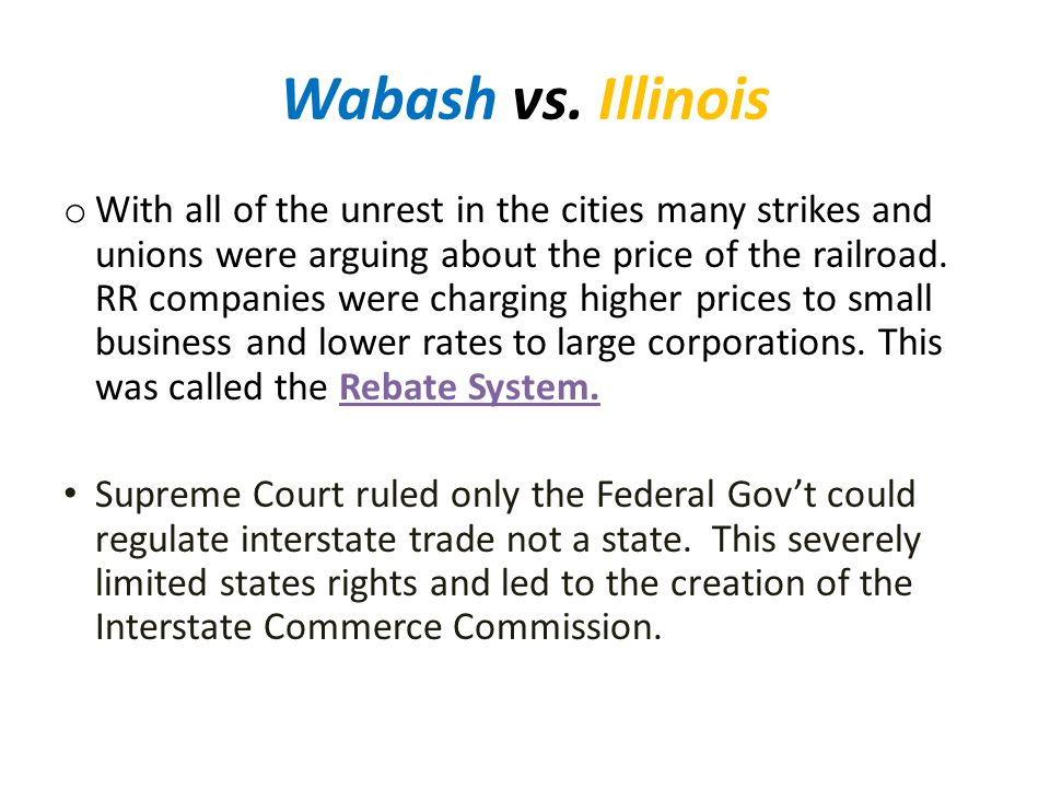 Wabash vs. Illinois
