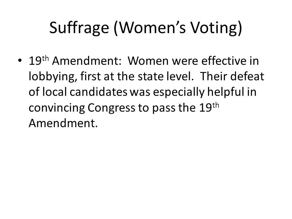 Suffrage (Women's Voting)