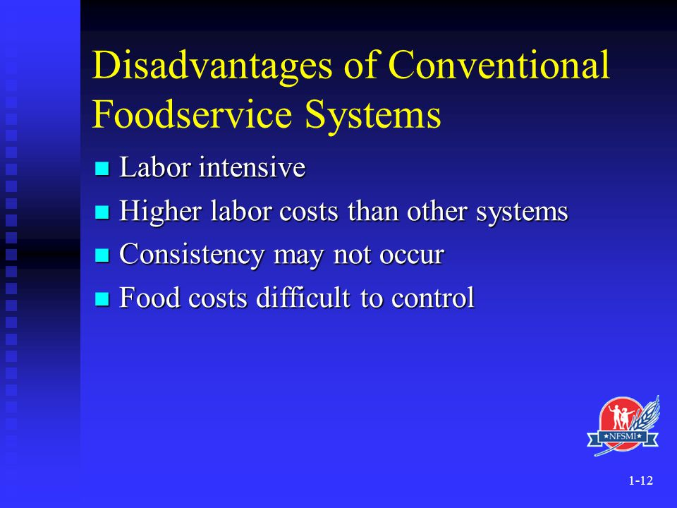 Disadvantages of Conventional Foodservice Systems