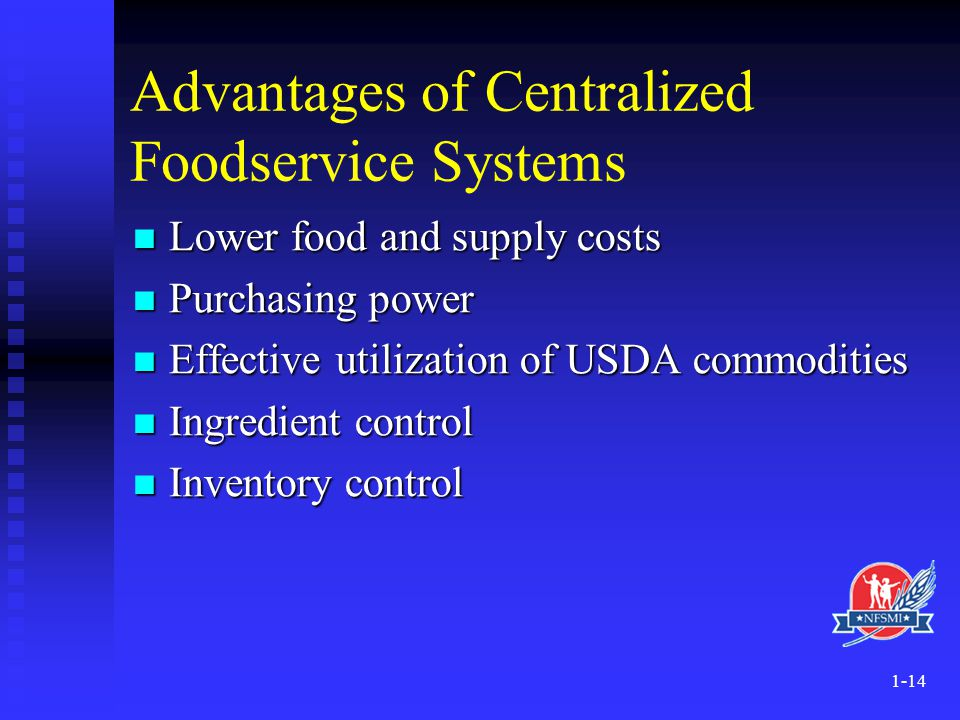 Advantages of Centralized Foodservice Systems
