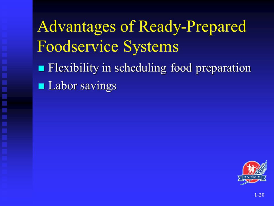 Advantages of Ready-Prepared Foodservice Systems