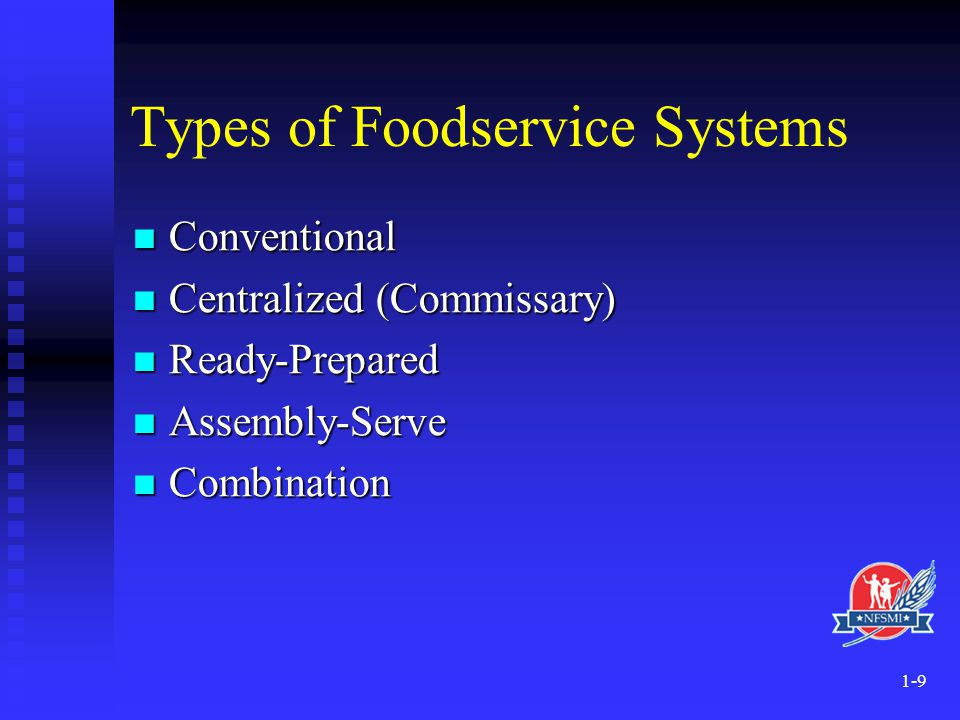 Types of Foodservice Systems
