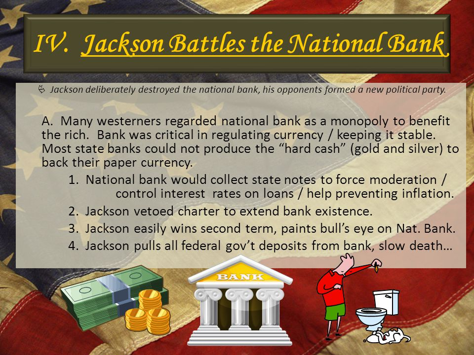 IV. Jackson Battles the National Bank