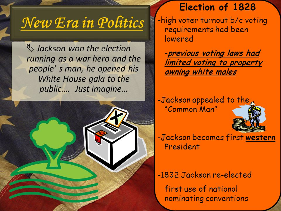New Era in Politics Election of 1828