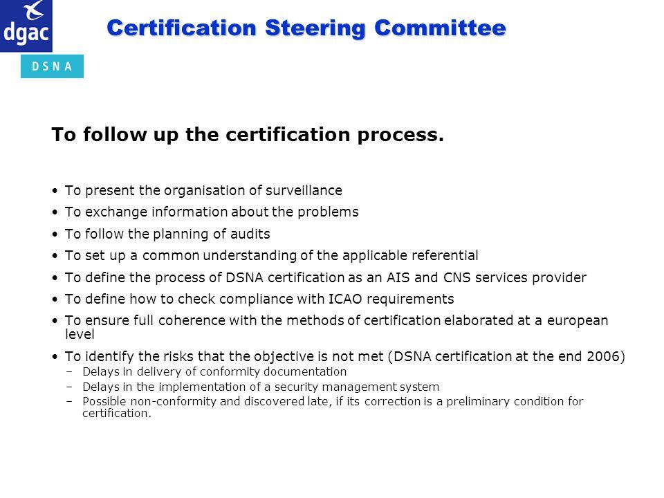 Certification Steering Committee