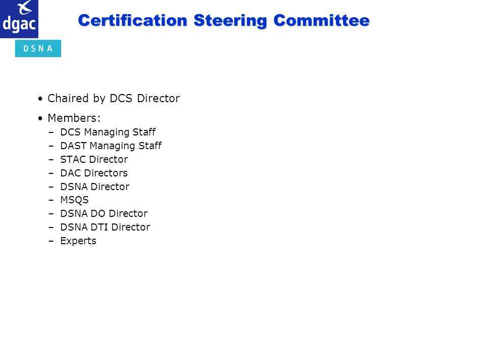 Certification Steering Committee