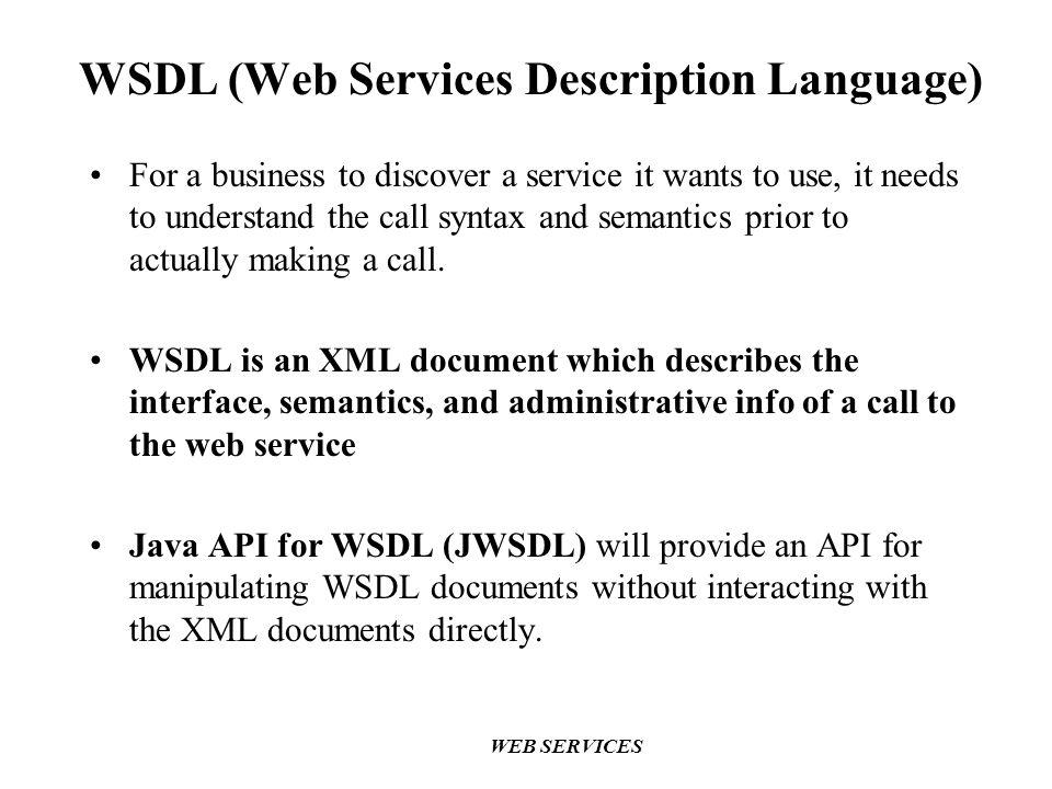 WSDL (Web Services Description Language)