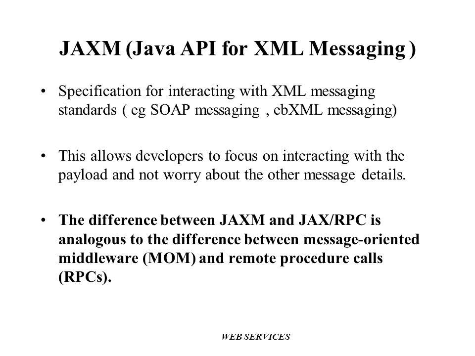 JAXM (Java API for XML Messaging )