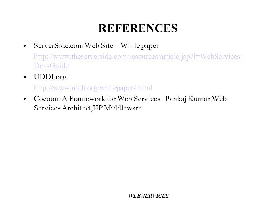 REFERENCES ServerSide.com Web Site – White paper