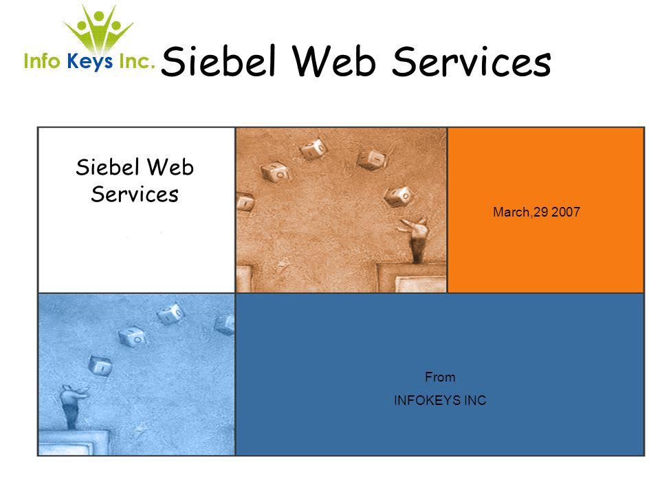 Siebel Web Services Siebel Web Services March,29 2007 From