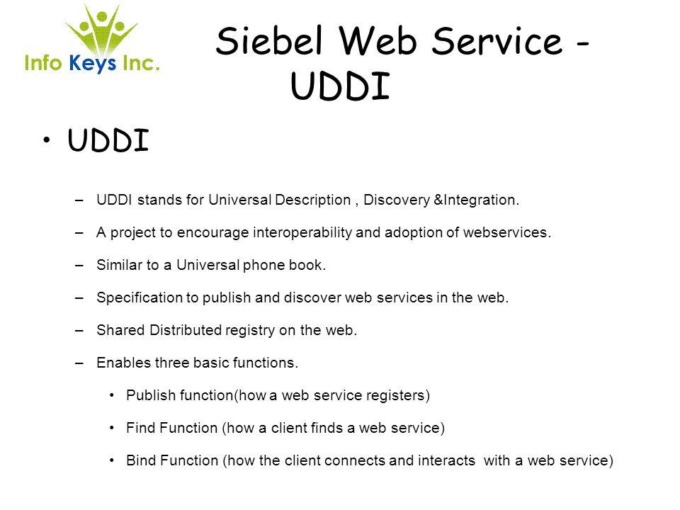 Siebel Web Service - UDDI