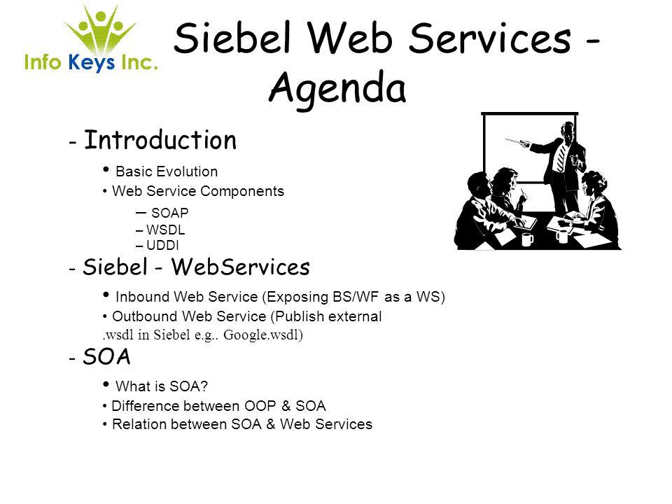 Siebel Web Services - Agenda