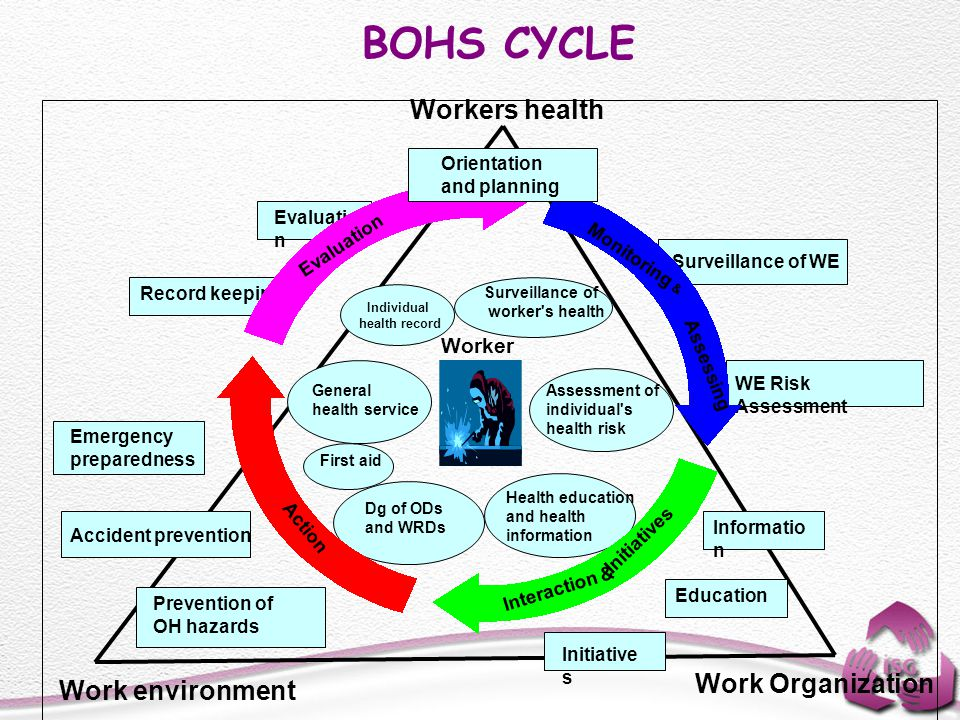 BOHS CYCLE Workers health Work Organization Work environment Worker