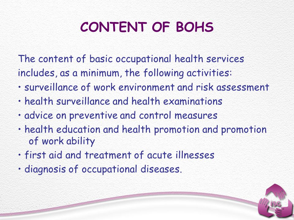 CONTENT OF BOHS