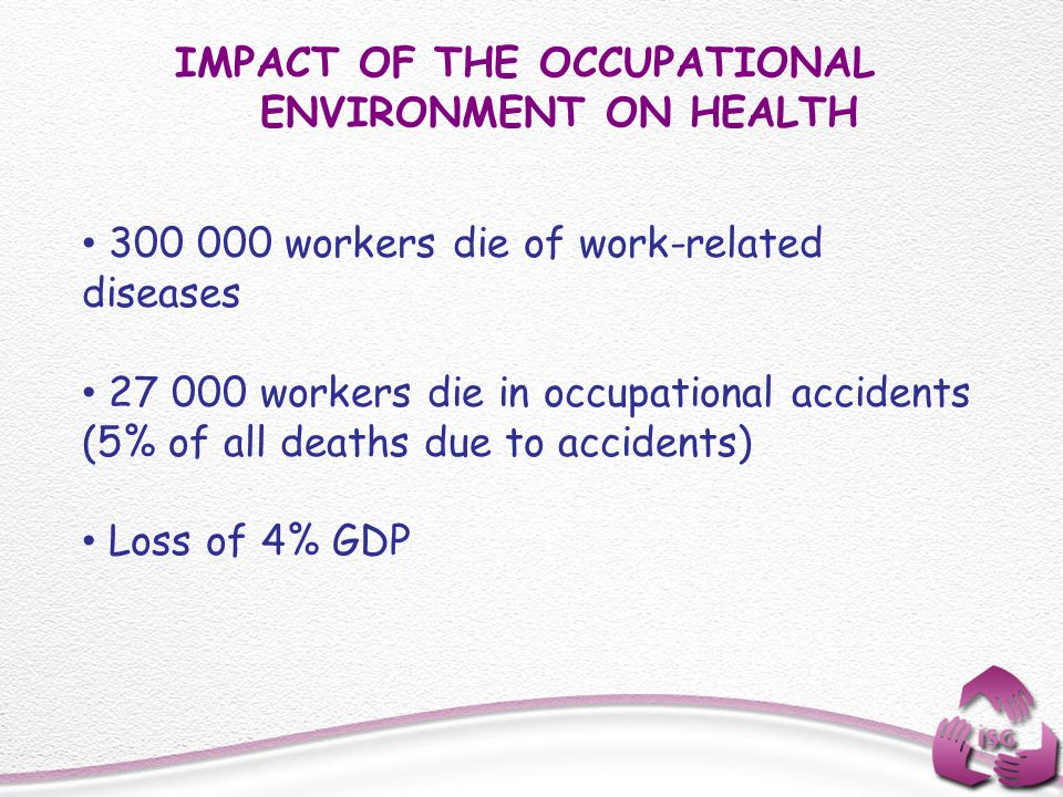 IMPACT OF THE OCCUPATIONAL ENVIRONMENT ON HEALTH