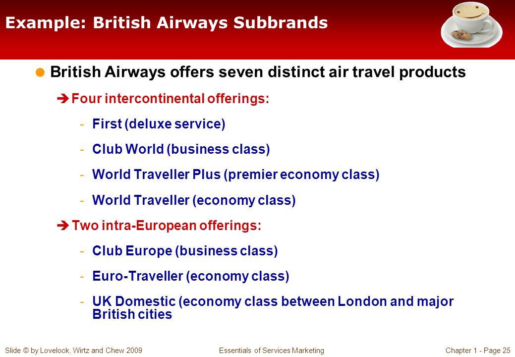 Example: British Airways Subbrands