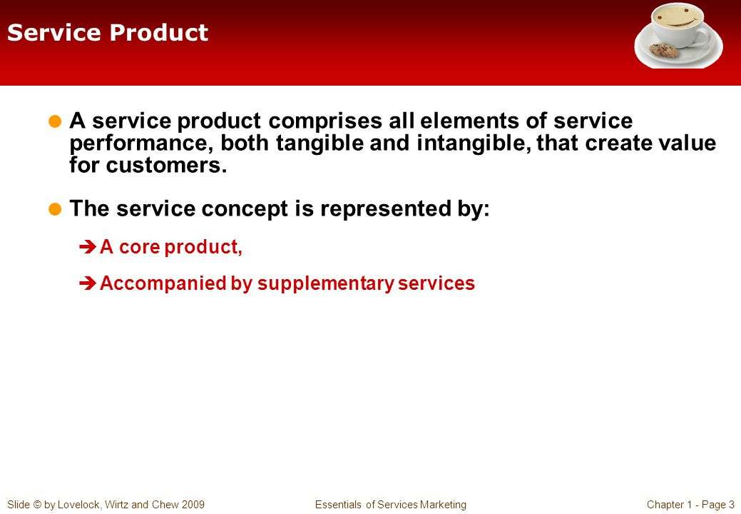 The service concept is represented by: