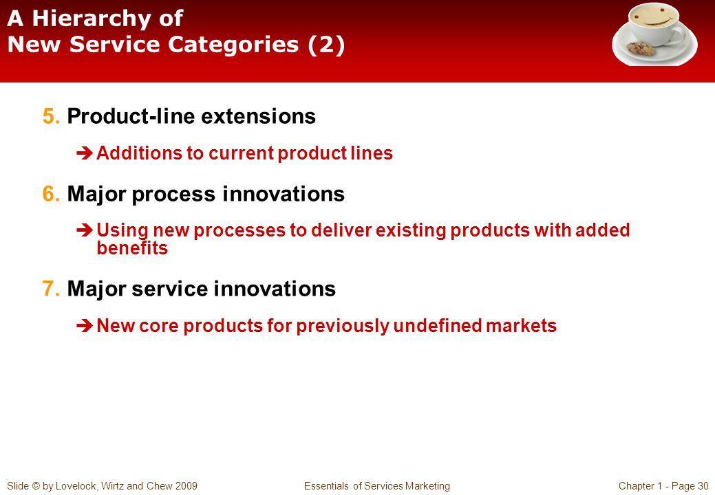 A Hierarchy of New Service Categories (2)