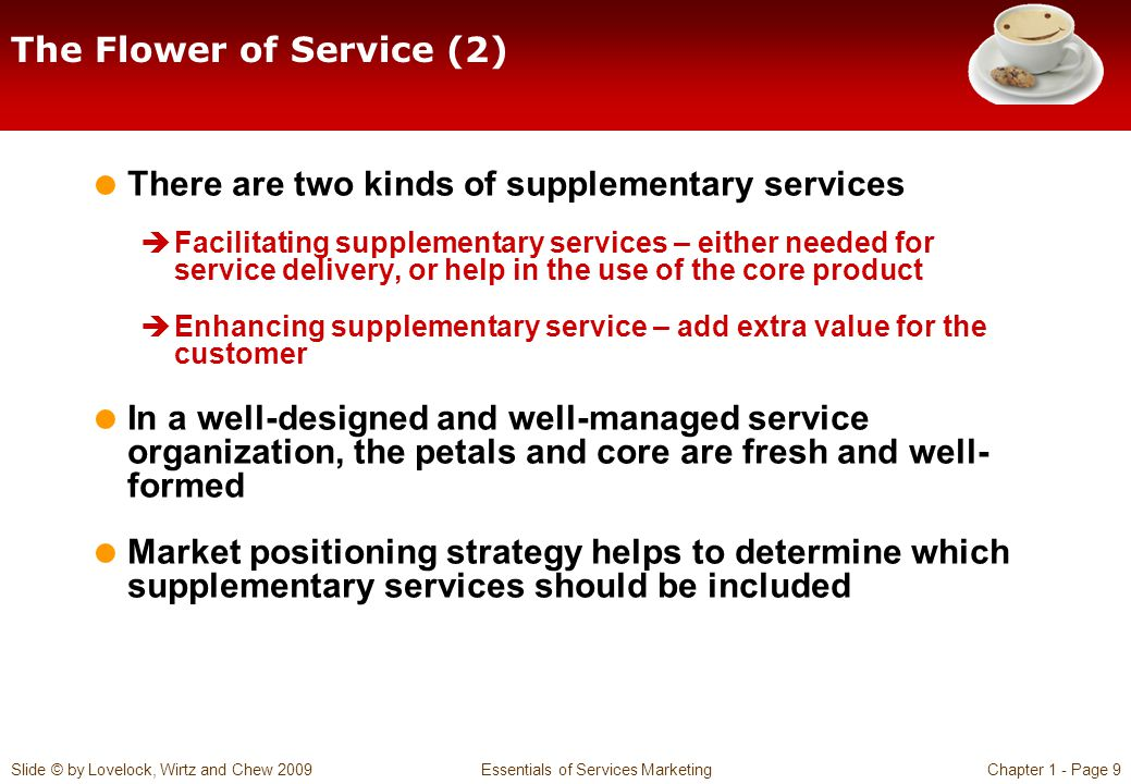 core product and supplementary services Questions to consider what do we mean by a service product what insights can we obtain from flowcharting service usage how can we categorize the supplementary services that surround core products, and how do they add value for customers.