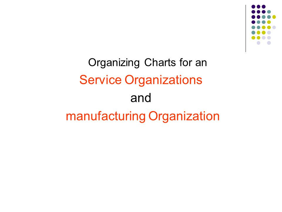 Service Organizations and manufacturing Organization