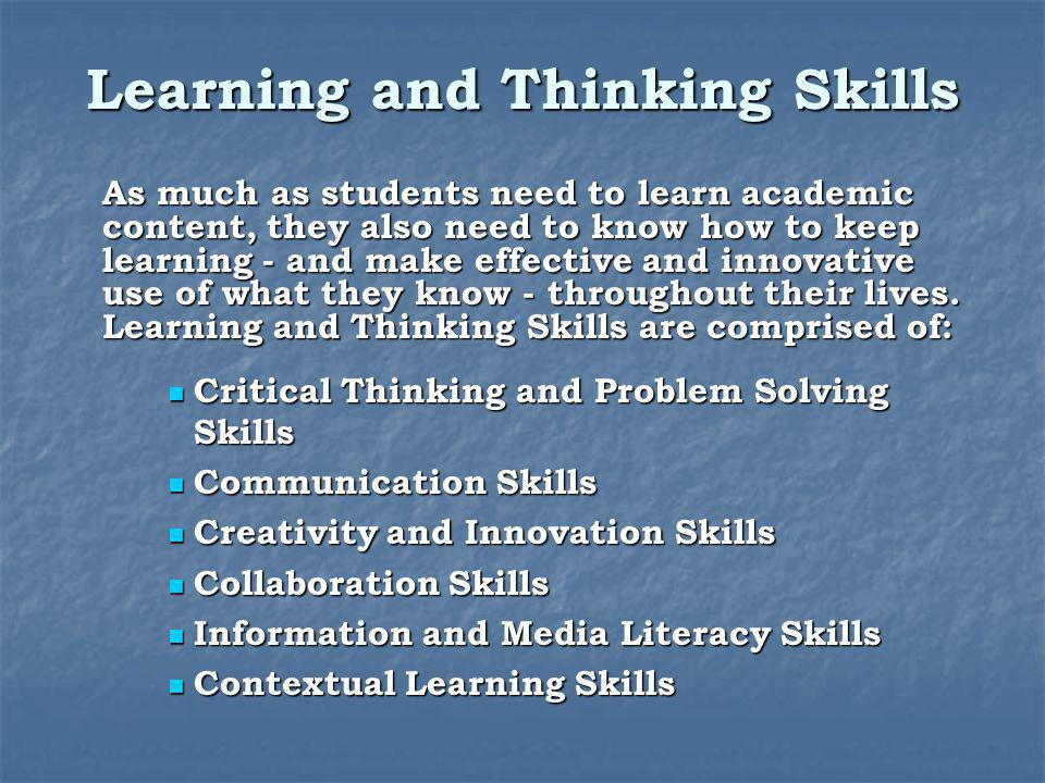 Learning and Thinking Skills