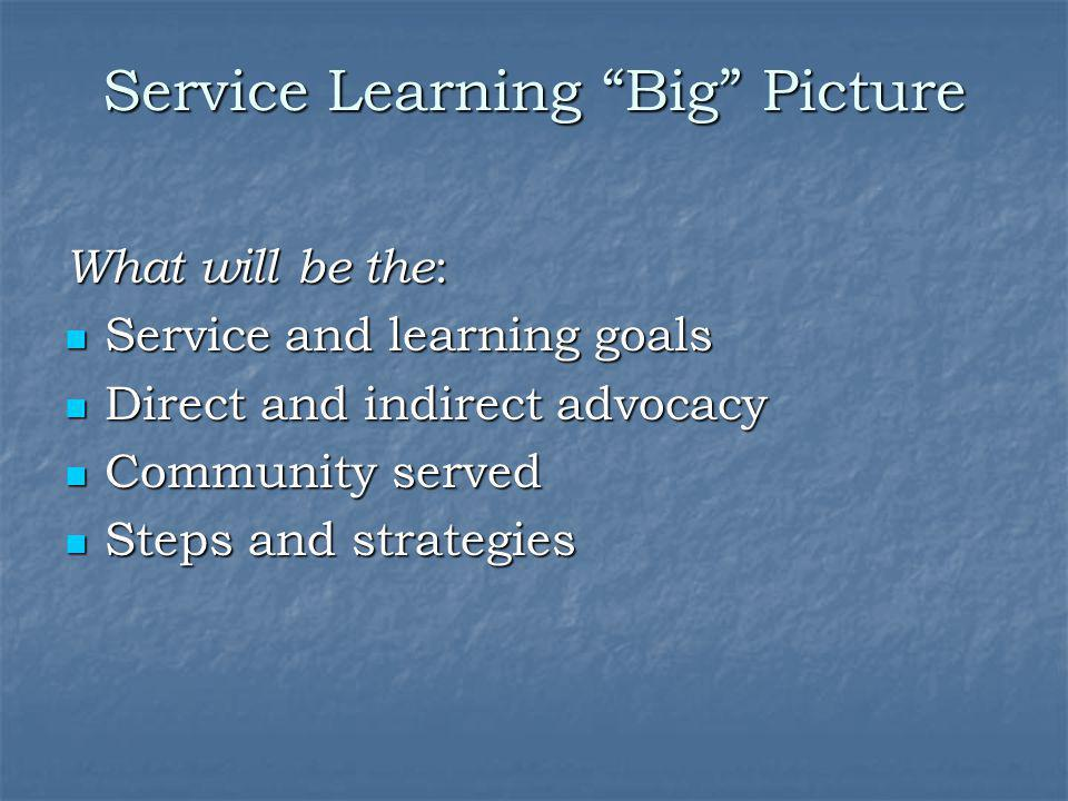 Service Learning Big Picture