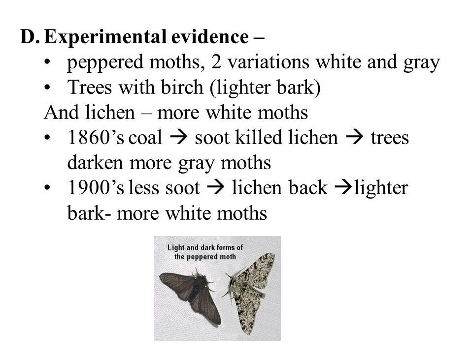 Experimental evidence –