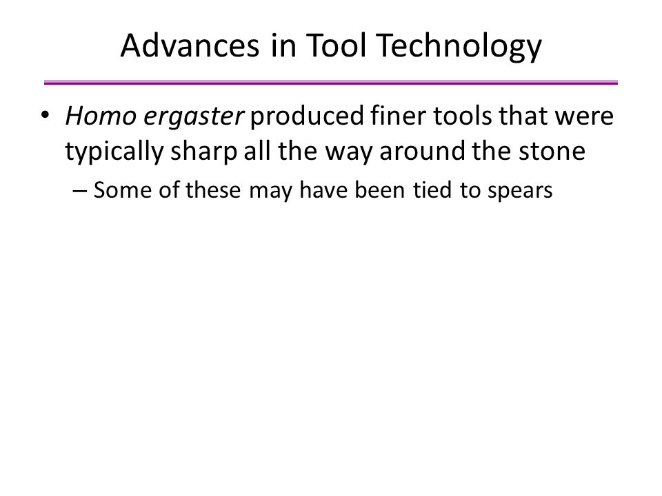 Advances in Tool Technology