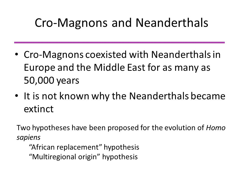 Cro-Magnons and Neanderthals