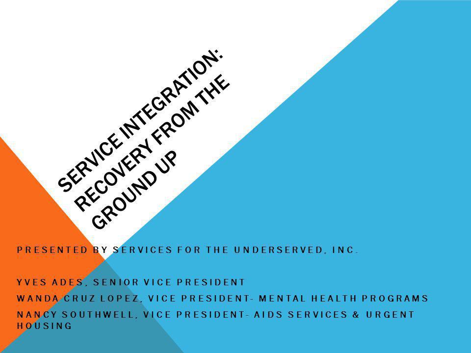 Service Integration: Recovery from the Ground Up