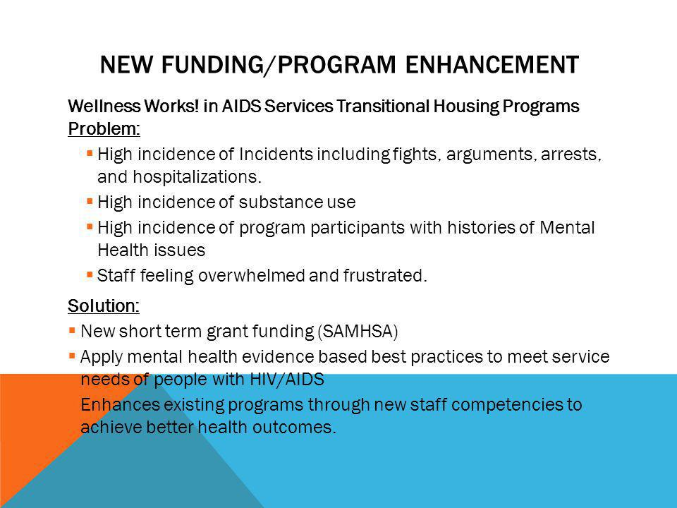 New Funding/Program Enhancement