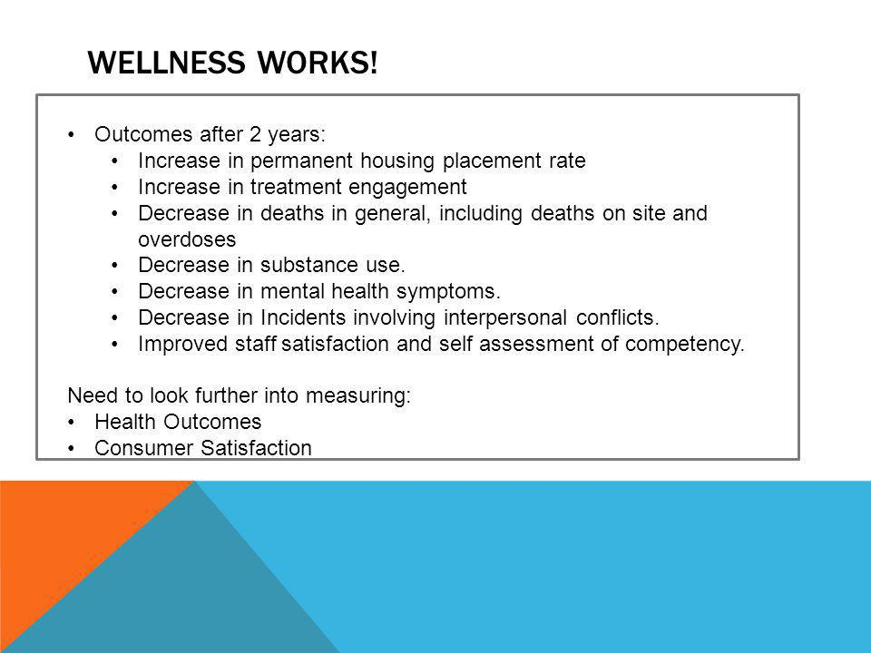 Wellness WORKS! Outcomes after 2 years: