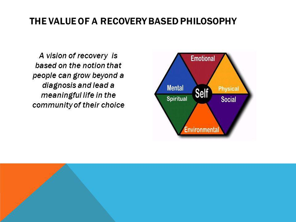 The value of a Recovery based Philosophy