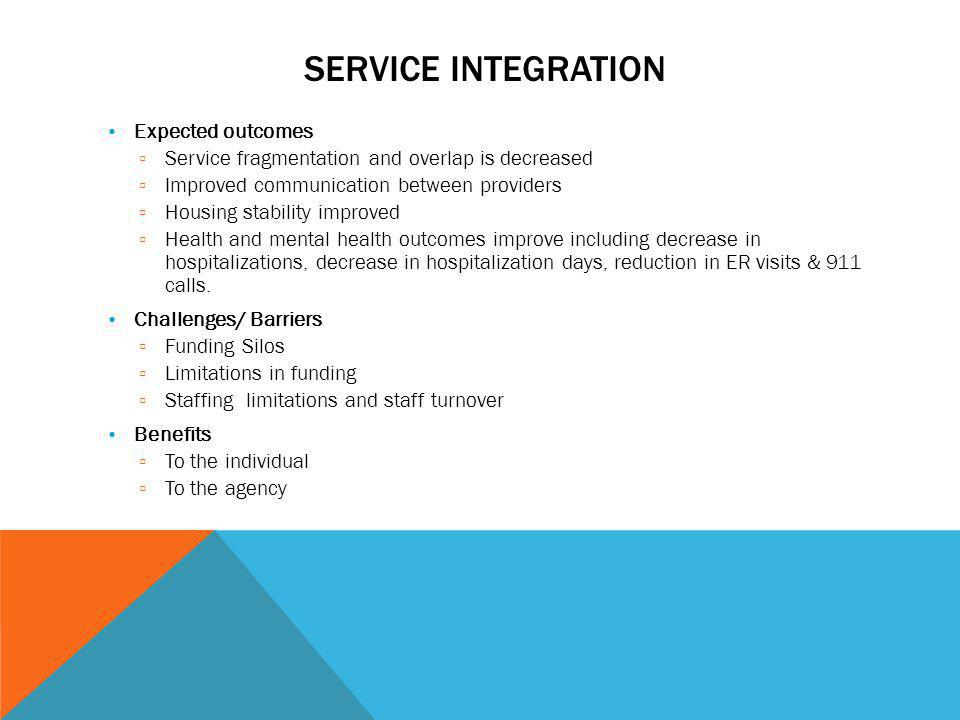 Service Integration Expected outcomes