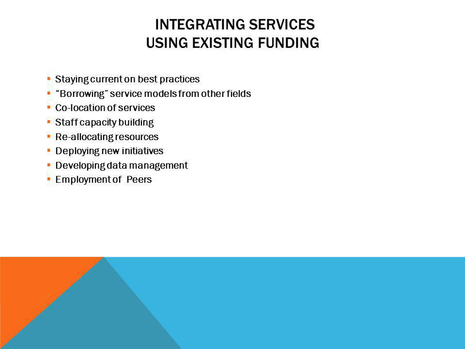 Integrating Services Using existing funding